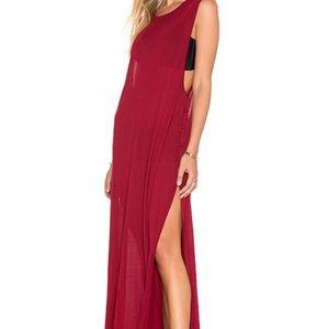 🌟 Somedays Lovin Red Fly Jersey Tank Maxi Dress